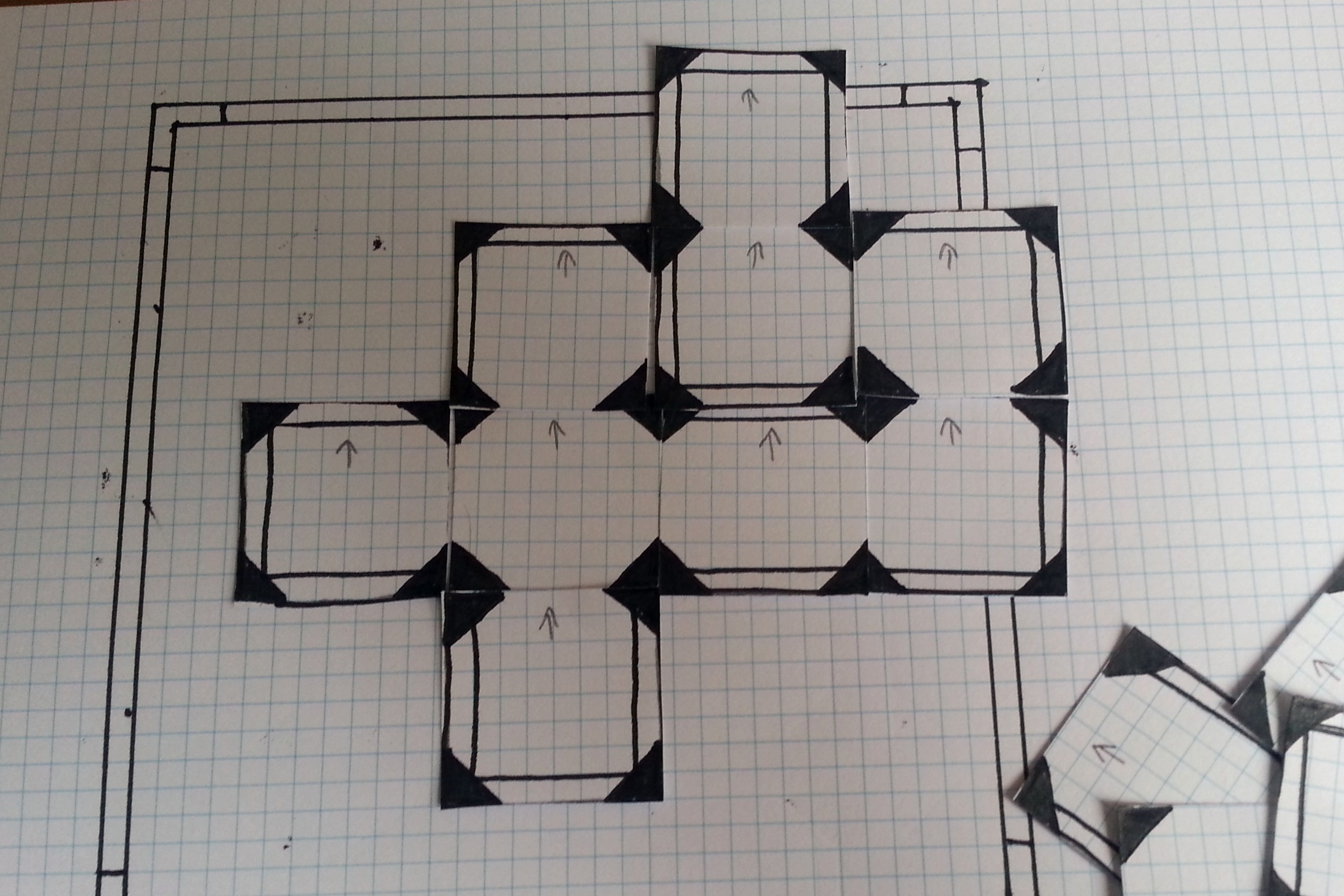 This is not a particularly impressive maze but it does give an idea of how combinations of tiles can come together.