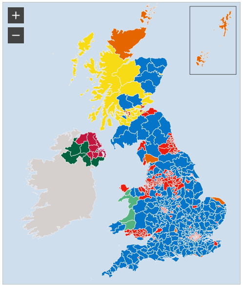 The BBC map shows traditional boundary representation.